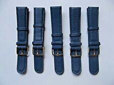 5 cinturini pelle stampa iguana blu 18 mm strap watch correa orologi vintage
