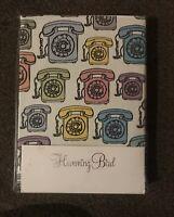 Humming Bird Telephones Kingsize Duvet Cover Set 100% Cotton - Split Pack