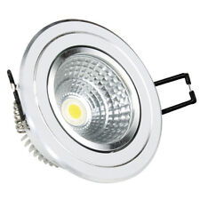 Lot 2 spot à LED encastrable orientable OPTONICA CB3248 5W 4500K *NEUF*