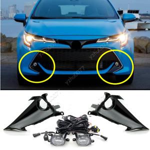 2019-2021 For Toyota Corolla Hatchback Bumper LED Fog Lights Lamps w/Switch Set