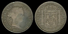 50 Centimos ISABELA 1868 Spanish Philippines Coin