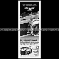 CANON CANONET 28 APPAREIL PHOTO COMPACT 24X36 1974 - Pub / Publicité / Ad #C257