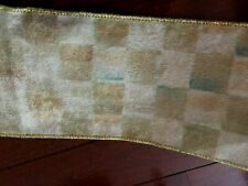 Mackenzie Childs Parchment Check 1 inch Wide Ribbon by the yard NEW