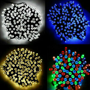Waterproof String Fairy Lights 20-500 LED Solar Power Battery Outdoor Xmas Tree
