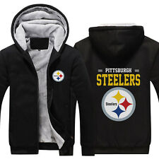 Pittsburgh Steelers Football fan's Thicken Hoodie winter Hooded Coat Warm Jacket