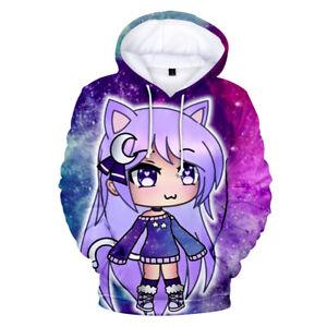 Unisex Hoodies Gacha Life 3D print Sweatshirts Casual Hooded Pullover Sweatshirt
