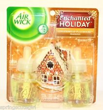 2 Refills Air Wick ENCHANTED HOLIDAY-GINGERBREAD PLAYHOUSE Airwick Oil (1 Box)