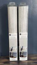 New listing 2 New Rolls RoomMates Grey Grasscloth Peel & Stick Wallpaper 20.5 in x 16.5 ft