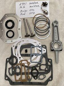 Kohler 16hp K341 master rebuild kit w/valves, standard rings and rod w/tune up