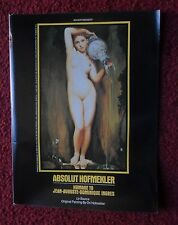 1992 Print Ad Absolut Ori Hofmekler Vodka ~ Jean-Auguste-Dominique Ingres