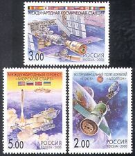 Russia 2000 Space/Rocket/ISS/Apollo-Soyuz/National Flags/Transport 3v set n26792