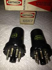 RAYTHEON/RCA/SYLVANIA 6SK7  ELECTRON TUBES(1PAIR)**