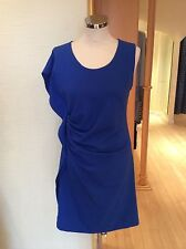 James Lakeland Dress Size16 Blue With Draping Detail Now