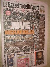 GAZZETTA DELLO SPORT 06/05/2013 JUVENTUS CAMPIONE D'ITALIA SCUDETTO 29 31 JUVE