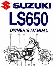 2009 SUZUKI LS650 BOULEVARD S40 MOTORCYCLE OWNERS MANUAL -LS 650-LS650 SAVAGE