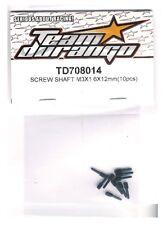 RC Team Durango TD708014 Screw Shaft M3x1.6x12mm (10pc) DESC210 DEST210R Short