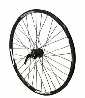 "26"" FRONT Mach Neuro 6 Bolt Disc MTB Mountain Bike Wheel All Black"