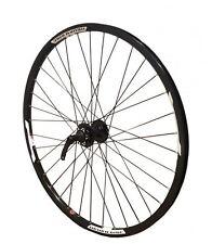 """26"""" FRONT Mach Neuro 6 Bolt Disc MTB Mountain Bike Wheel All Black"""