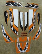 Yamaha banshee quad sticker graphics decal 13pc Special Edition Orange/White ATV