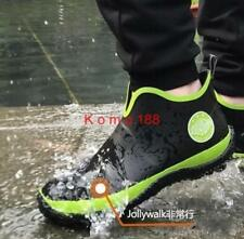 Mens Non-slip low top Casual Rubber Waterproof Fishing garden Rain Ankle Boot