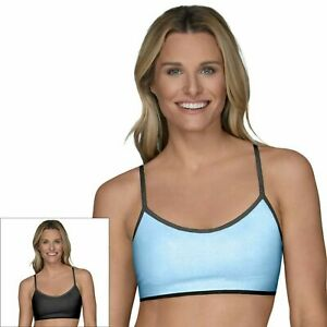 Fruit of the Loom® Signature® Ladies Strappy Breathable Sports Bras 2-Pack