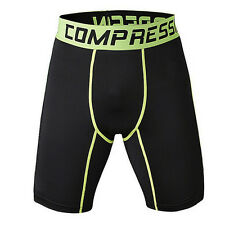 Mens Compression Armour Base Layer Shorts Gym Sports Tights Trousers Under Skins