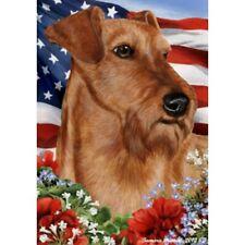 Patriotic (1) House Flag - Irish Terrier 16220