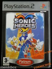 SONIC HEROES platinum jeu video pour console PS2 PlayStation 2 PAL complet testé