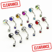 Body Piercing Surgical Steel Belly Bars Navel Button Ring 12 Colours