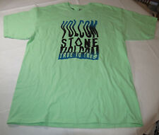 Men's Volcom short sleeve t shirt surf skate XL Mint Green Ocean Motion S/S TEE