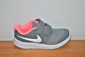 Nike Girls' Star Runner 2 Smoke Gray Running Shoes - Size 9