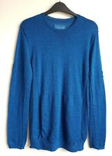 ZADIG AND VOLTAIRE femme 100% Doux Alpaca Bleu Pull Taille S UK 8