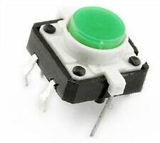 Small White Micro Switch Push Button SPST-NO THT 130 ± 50gf Light Tact Feel