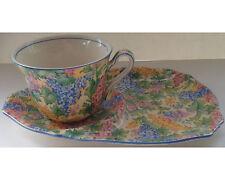 Vintage Birks Royal Winton Somerset Chintz Tennis Set Snack Plate & Cup