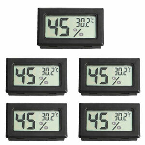 5PCS Thermometer Hygrometer Humidity Meter LCD Digital Temperature Detector Mini