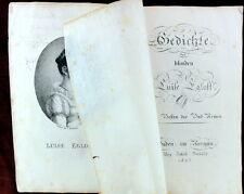 Gedichte der blinden  LUISE EGLOFF, EA 1823 - Zürich Baden Schweiz Aargau