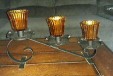 Vintage Home Interior Metal Candle Votive Cup Holder Centerpiece 3 Tier