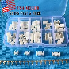 40 Sets JST Connector XH 2.5 2 3 4 5Pin 2.54mm Right Angle M&F Housing w/ Crimps