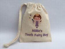 Personalised Tooth Fairy Bag - Fairy Design 10x13cm