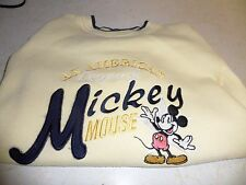 Disney Mickey Mouse Pullover Sweater Size Med Yellow Mickey & Co.