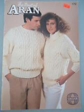 Vtg Best of Aran Fishermans Knitting Patterns Sirdar Mens Womens Children Family
