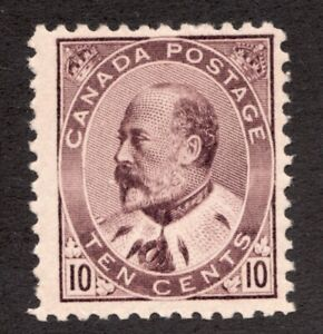 Sc 93 - Canada - 1903 - 10 Cent - Edward VII - MLH - F -  superfleas - cv$200