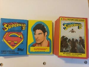 Topps Superman  2 Movie Trading Cards Set w stickers NM-M 1980