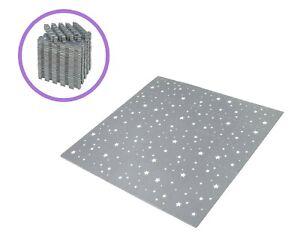 Edukit EVA Foam Night Stars Mat – 45 Pieces – Grey Interlocking Floor Tiles