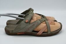 Merrell Womens Putty Select Grip Slides Performance Sandals Size 8 Gray & Coral