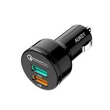 CARGADOR COCHE AUKEY ADAPTADOR 2 USB 30W  2.4A + Quick Charge 3.0 RAPIDA NUEVO