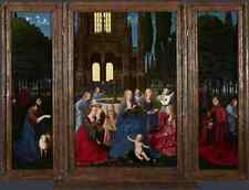 Metal Sign Netherlandish The Virgin And Child With Saints And Angels In A Garden