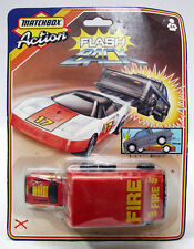 RARE VINTAGE 1987 MATCHBOX ACTION FLASH BACK NISSAN & FIRE RESCUE NEW MOSC !