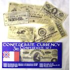 CIVIL WAR 3rd CONFEDERATE CURRENCY BATTLE SET REPO $100.50.10.AND .25 .50 Cents for sale