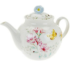 Lenox Butterfly Meadow Limited Edition Teapot Sculpted Flower Topped Lid New